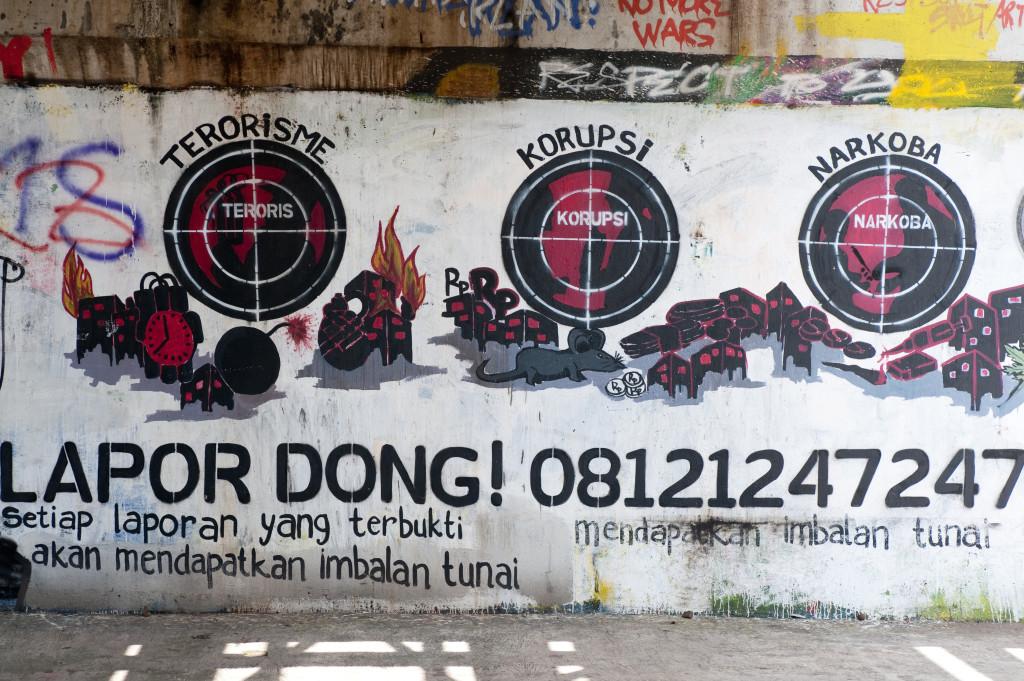 Terrorisme, corruption... Djakarta © ppc
