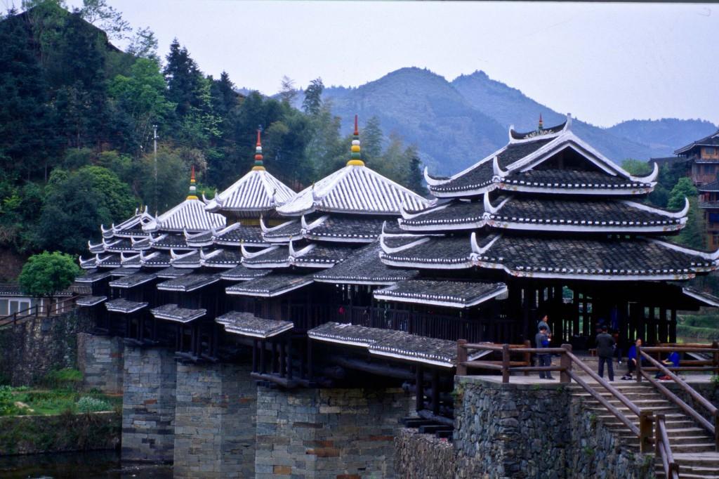 Zhaoxing, Pont du Vent et de la Pluie, Dong © Philippe Pataud Célérier