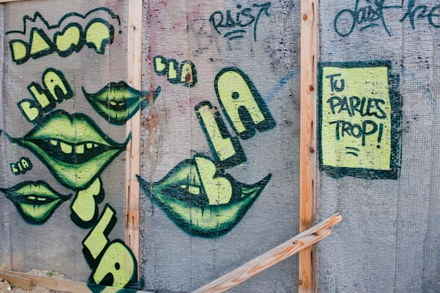 Blabla, street art, 75020 © ppc