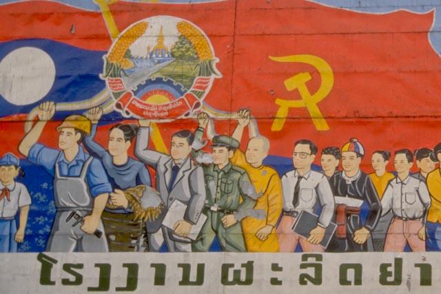 Laos, propagande du Parti © PPC