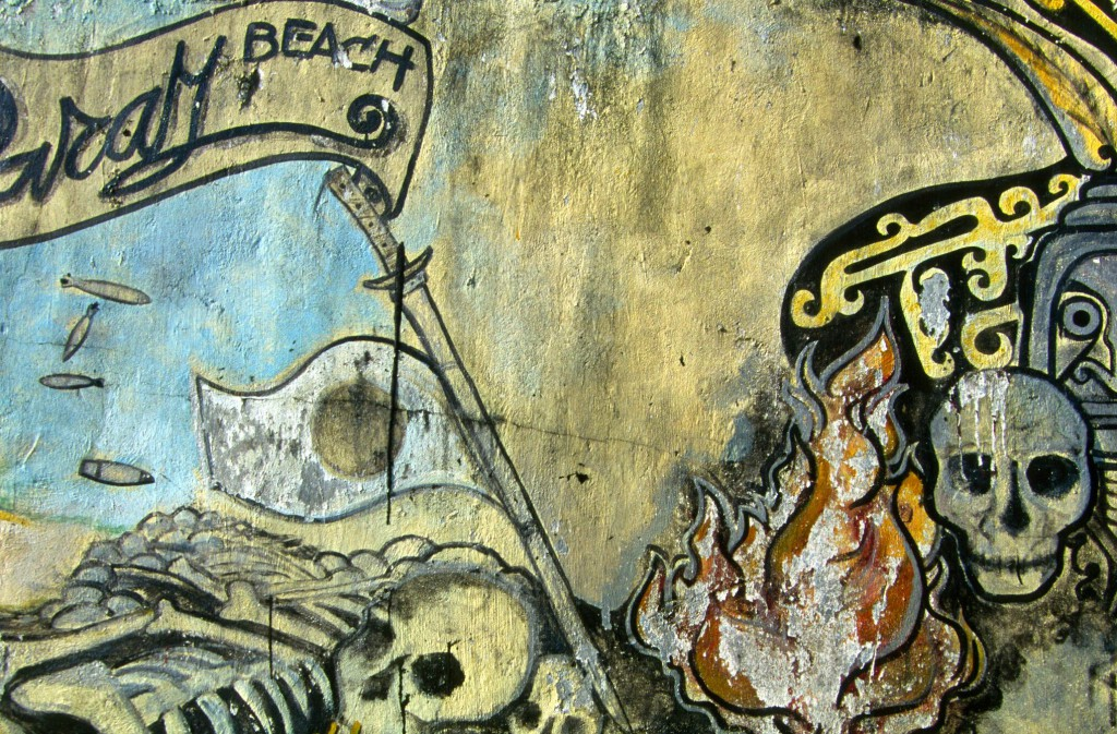 Ile de Biak, Fresque murale © ppc
