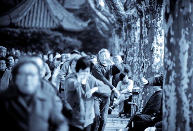 Shanghai, parc de Xiangyang © ppc