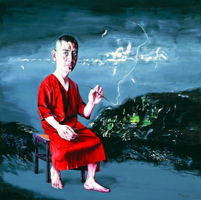 Zeng Fanzhi, Self-portrait, 2009 © www.philippepataudcélérier.com - Photo prise au Musée d'Art Moderne de Paris, 2013