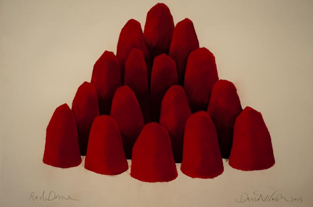 David Nash, Red Dome, 2009 © ppc, Caumont sur Loire.