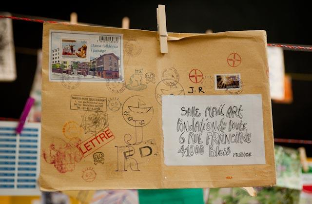 Salle Mail Art, Fondation du doute, Blois © ppc