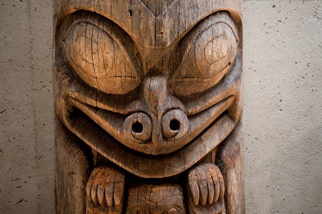 Haida, totem, UBC of Anthropolgy, Vancouver © ppc