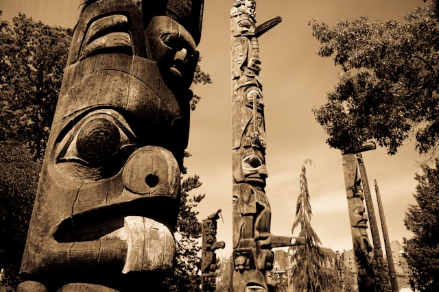 Victoria, Parc Thunderbird, BC © ppc