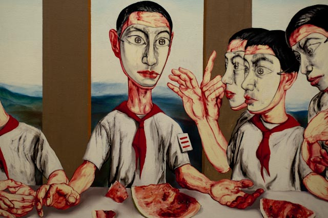 Zeng Fanzhi, The Last Supper, gros plan © ppc