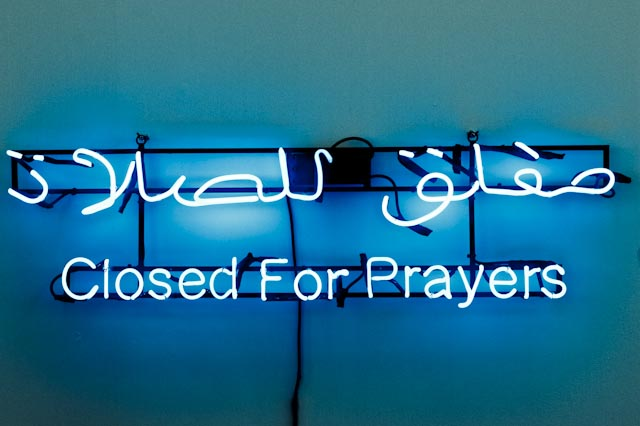 Closed for prayers, FIAC 2012