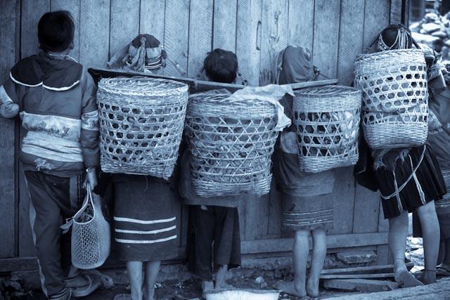 Marché de Muang Sing, Laos © ppc