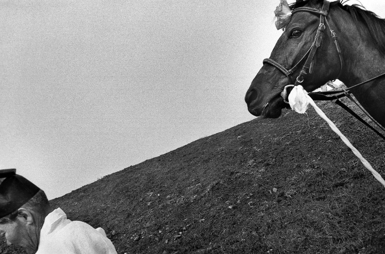 Le vieil homme et le cheval, Buyeo, 1995 ©Lee Gap Chul
