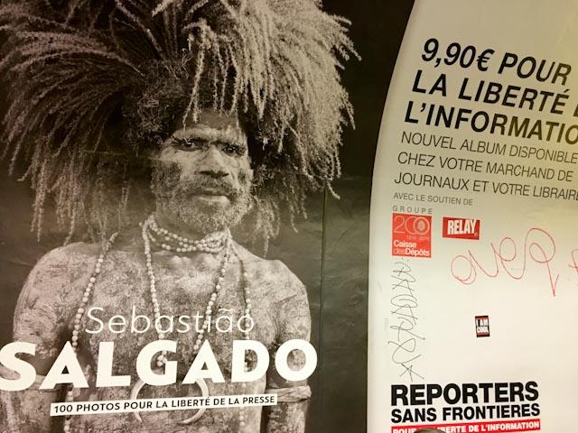 Nouvelle campagne de presse de Reporters sans frontière dans le métro parisien, mai 2016 © www.philippepataudcélérier.com