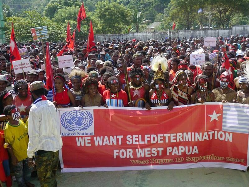 Nous voulons le droit à l'autodétermination © KNPB
